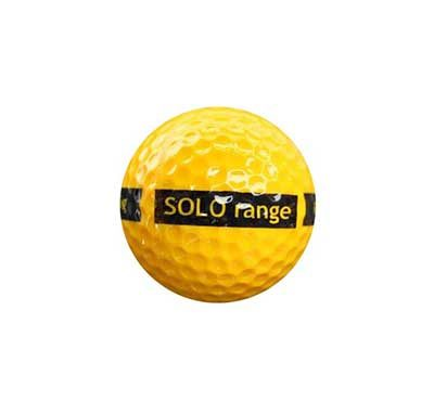 1-piece SOLO range ball Yellow 80 Compression