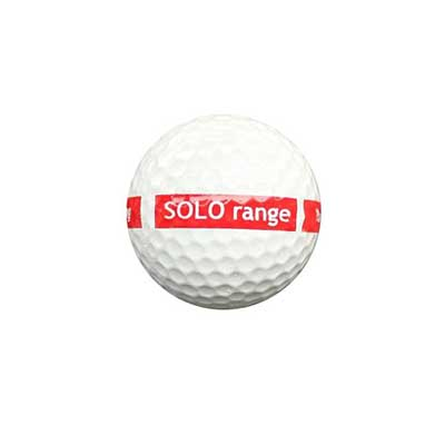 1-piece SOLO range ball white 80 Compression