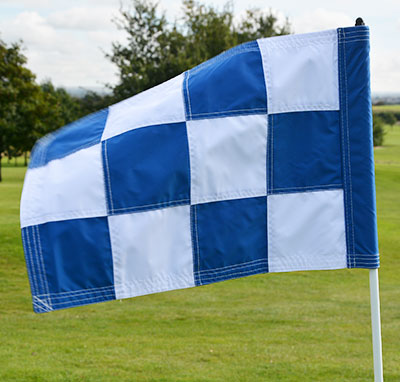 2PLY Sewn Golf Flag Blue and White