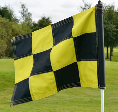 2PLY Sewn Golf Flag Yellow and Black