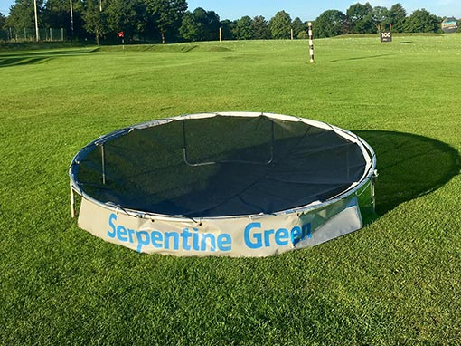 Golf Circular Chipping Net with advertising banner