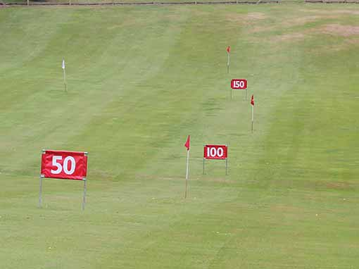 Horizontal Yardage Distance Markers
