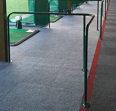 'L' Section Metal Handrail on driving range