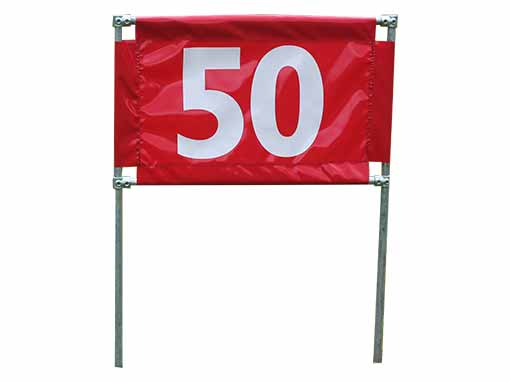 Red 50 Horizontal Marker
