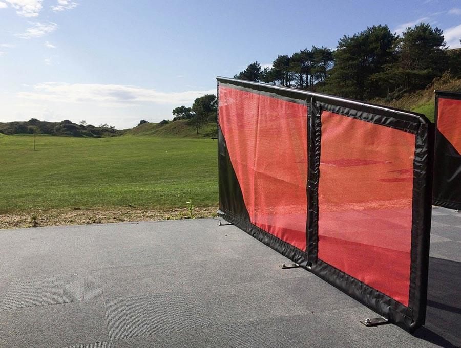 Saunton Golf Club Freestanding Netted Bay Divider