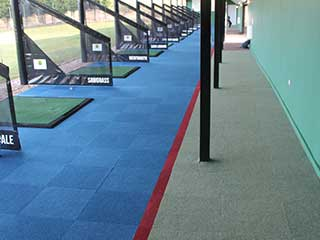 Spike Range Carpet Tiles Pacific Blue, Claret and Pale Olive