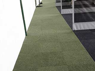 Spike Range Carpet Tiles Pale Olive with Anthracite