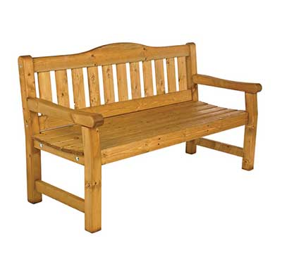 Timber Bench Driving Range Furniture