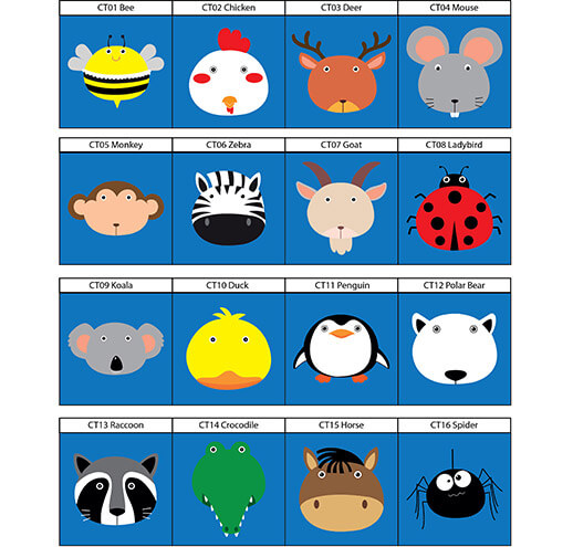 16 different Animal Character Targets