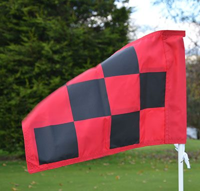 2 PLY Screen Printed Chequered Flag Red and Black