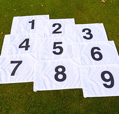Golf Course Numbered Golf Flags Range Solutions