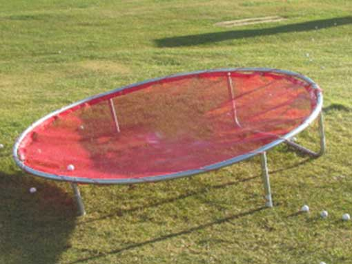Golf circular chipping net red