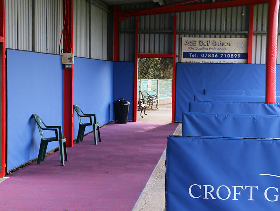 Croft Golf Centre walkway and back wall