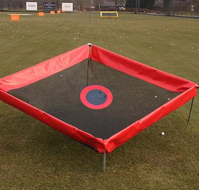 Red diamond golf chipping net