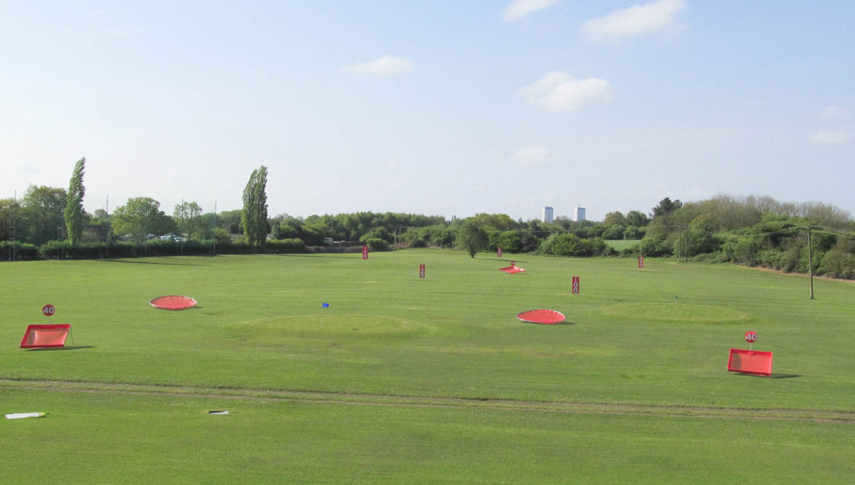 Fishley Park Driving Range Outfield Targets and Distance Markers