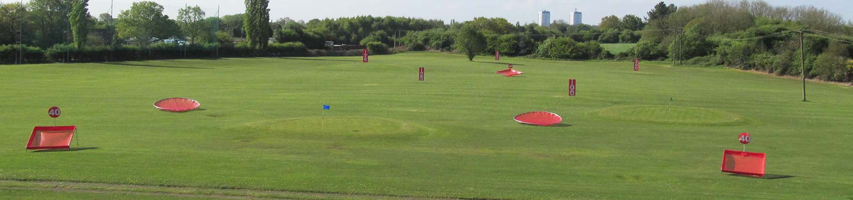 Fishley Park Outfield Targets and Distance Markers