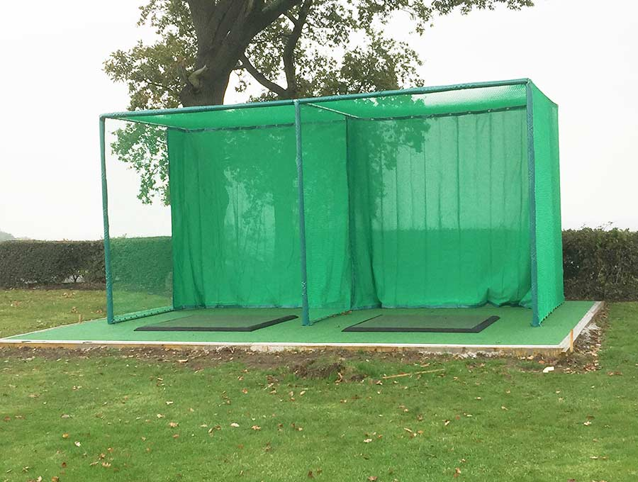 Two Bay outdoor golf hitting enclosure at Bristol Golf Centre