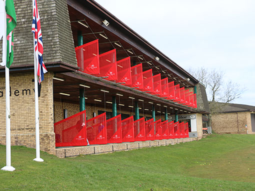 Celtic Manor Driving Range Hanging Dividers