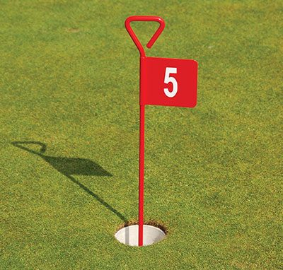 Red Aluminium Putting Green Flag