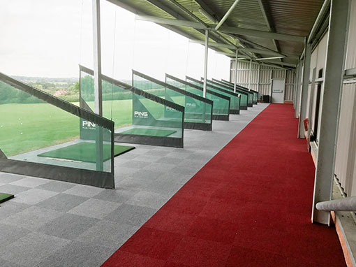 Buckingham Golf Club Driving Range Carpet Installation