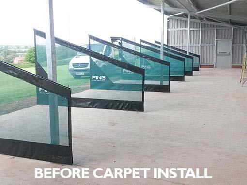 Buckingham Golf Club Driving Range Concrete Flooring