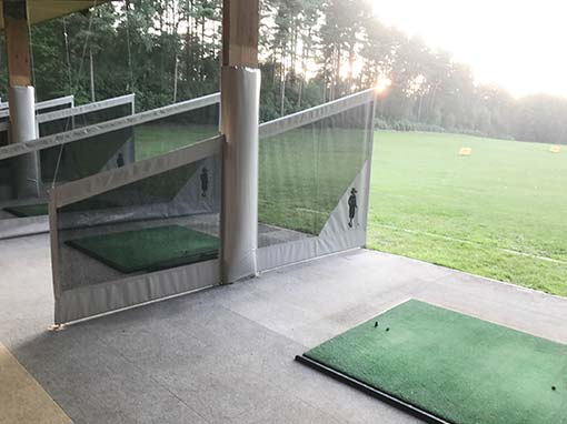 Foxhills Golf Club Driving Range Split Netted Bay Divider