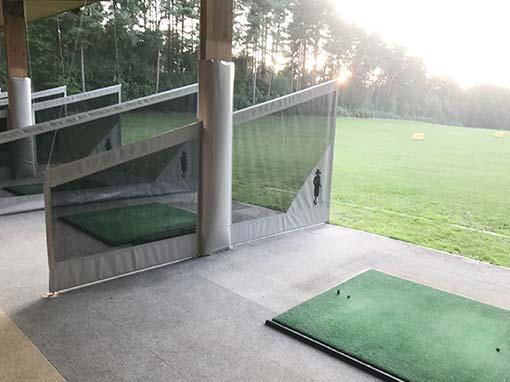 Foxhills Golf Club Driving Range Split Netted Bay Divider