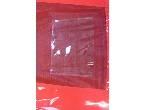 Clear plastic wallets for bay dividers