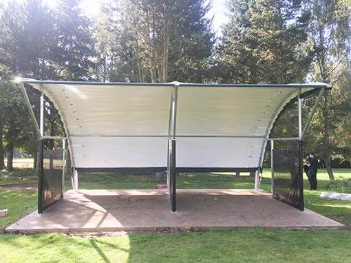 Churchill and Blakedown Golf Club RangeBay Installation Front View