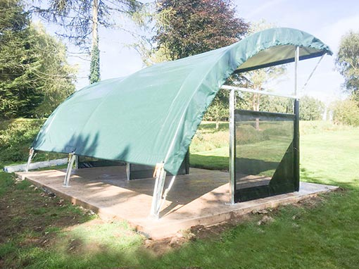 Churchill and Blakedown Golf Club 2 Bay RangeBay Installation Behind Canopy