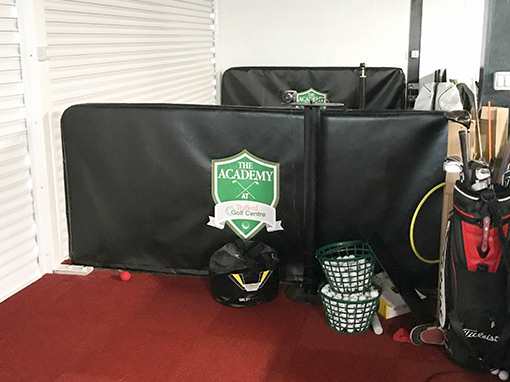 Trafford Golf Centre Driving Range Bay Cover with Logo